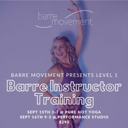 Barre Movement Teacher Training